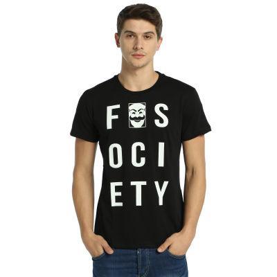 Bant Giyim - Mr. Robot F. Society Siyah T-shirt