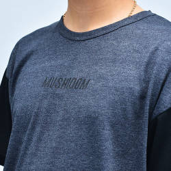 Mushroom Anthracite & Black T-shirt - Thumbnail