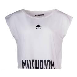 Mushroom - Mushroom - Crop Top Beyaz T-shirt
