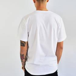 Mushroom Logo Embroidered Beyaz T-shirt - Thumbnail