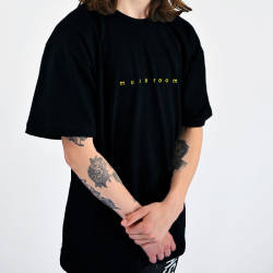 Mushroom - Mushroom Logo Embroidered Black T-shirt