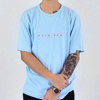Mushroom - Mushroom Logo Embroidered Blue T-shirt
