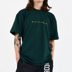 Mushroom Logo Embroidered Green T-shirt - Thumbnail