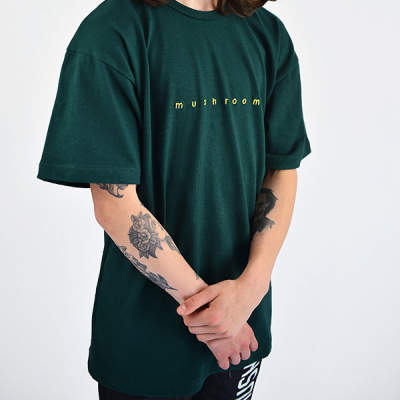 Mushroom - Mushroom Logo Embroidered Green T-shirt