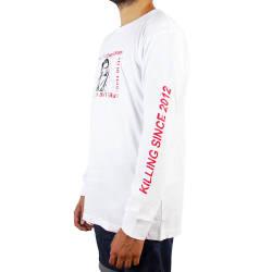 Mushroom Psycho Beyaz Uzun Kollu T-shirt - Thumbnail