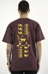 Mushroom Psycho II Bordo T-shirt Tişört - Thumbnail
