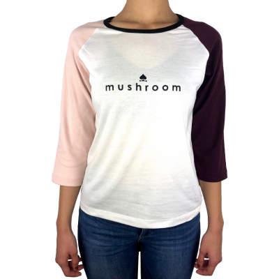 Mushroom - Raglan PSB Beyaz T-shirt