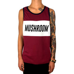 Mushroom - Mushroom - Tank Top Bordeaux Atlet