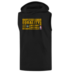 NBA - NBA - EQUALITY Milwaukee Bucks Siyah Sleeveless Hoodie