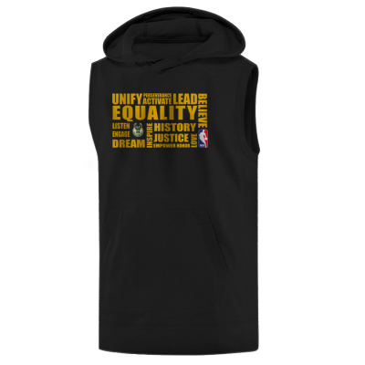 NBA - EQUALITY Milwaukee Bucks Siyah Sleeveless Hoodie