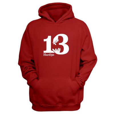 Sports - James Harden 13 Kırmızı Cepli Hoodie