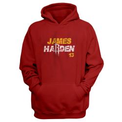 NBA - James Harden Kırmızı Cepli Hoodie - Thumbnail