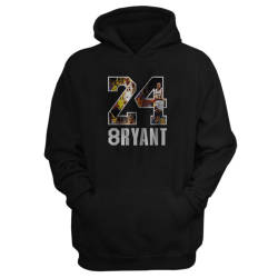 NBA - Kobe Bryant 24 Siyah Cepli Hoodie (Fırsat Ürünü) - Thumbnail