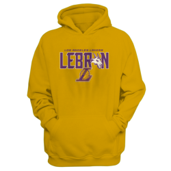 NBA - NBA - Lebron James Goat Sarı Cepli Hoodie