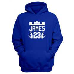 Sports - Lebron James Mavi Cepli Hoodie - Thumbnail