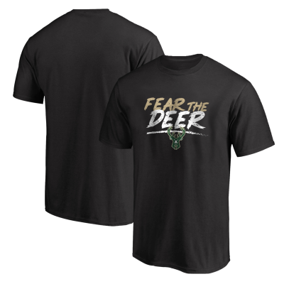 NBA - Milwaukee Fear The Deer Siyah T-shirt