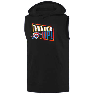 NBA - Thunder Up Siyah Sleeveless Hoodie