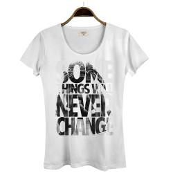 Groove Street - HollyHood - Groove Street Never Change Kadın Beyaz T-shirt