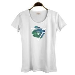 The Street Design - HollyHood - Street Design Never Give Up Kadın Beyaz T-shirt