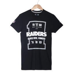 Era - Era - Oakland Raiders Super Bowl Winners Siyah T-shirt