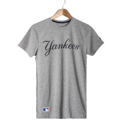New Era - New Era - Yankees Gri T-shirt