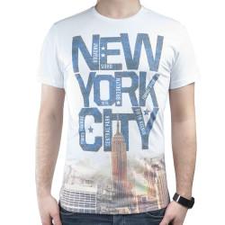 HollyHood - New York City Mavi Beyaz T-shirt