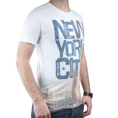 New York City Mavi Beyaz T-shirt