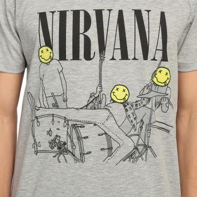 Bant Giyim - Nirvana Bleach Gri T-shirt