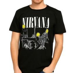 Bant Giyim - Nirvana Bleach Siyah T-shirt - Thumbnail