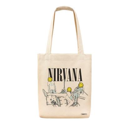 Bant Giyim - Bant Giyim - Nirvana Kurt Cobain Tote Bez Çanta