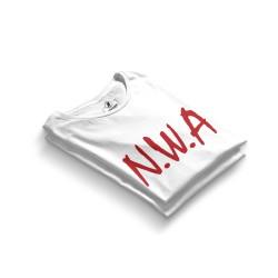 HH - N.W.A Beyaz T-shirt - Thumbnail
