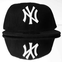 Era - Era - NY Beyaz & Siyah Snapback Cap