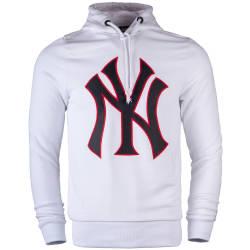 Two Bucks - NY Nakışlı Beyaz Hoodie - Thumbnail