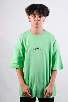 HollyHood - OHBRO Açık Yeşil Basic Oversize Tişört
