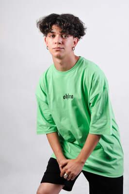 OHBRO Açık Yeşil Basic Oversize Tişört