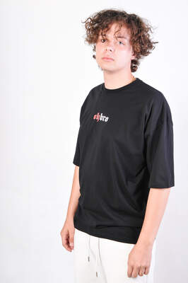 HollyHood - OhBro Japanese Siyah Oversize Tişört