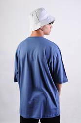 Mavi Basic Oversize Tişört - Thumbnail