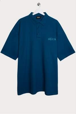 Mavi Polo Yaka Oversize T-shirt
