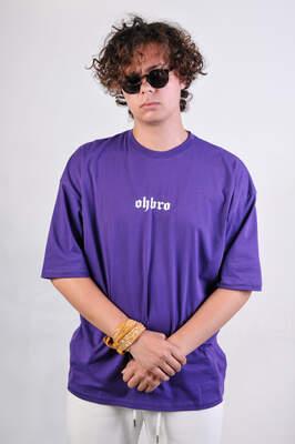 HollyHood - OHBRO Mor Basic Oversize Tişört