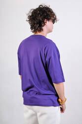 OHBRO Mor Basic Oversize Tişört - Thumbnail