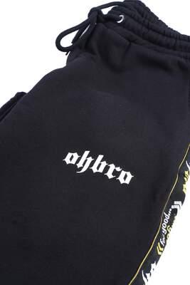 OHBRO Şeritli Siyah Eşofman Altı