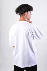 HH Beyaz Basic Oversize Tişört - Thumbnail