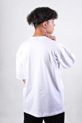 HH Beyaz Basic Oversize Tişört