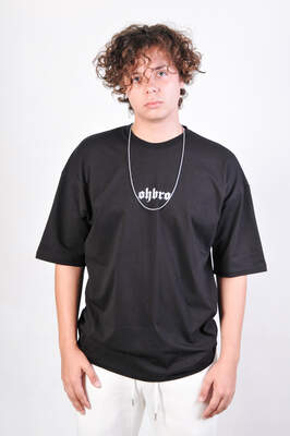 HollyHood - HH Siyah Basic Oversize Tişört