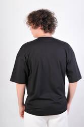 HH Siyah Basic Oversize Tişört - Thumbnail