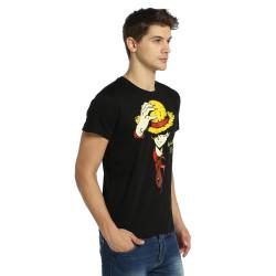 Bant Giyim - One Piece Monkey D. Luffy Siyah T-shirt - Thumbnail