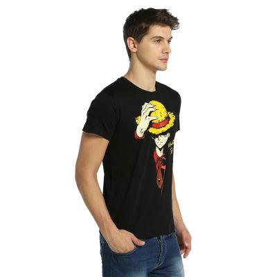 Bant Giyim - One Piece Monkey D. Luffy Siyah T-shirt