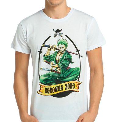 Bant Giyim - One Piece Roronoa Zoro Beyaz T-shirt
