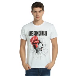 Bant Giyim - One Punch Man Saitama Beyaz T-shirt - Thumbnail