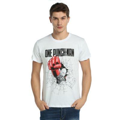 Bant Giyim - One Punch Man Saitama Beyaz T-shirt